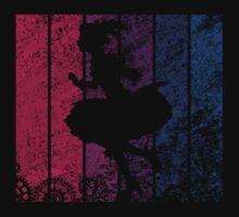 Puella Magi Madoka Magica - Madoka Nakama Silhouette (Rust) Kids Tee