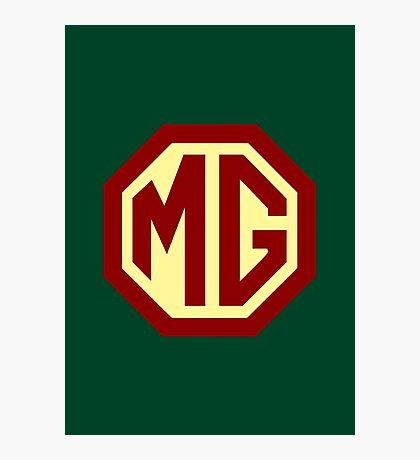 Classic Cars Logo - MG Photographic Print