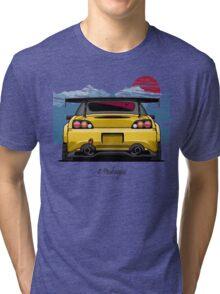 Honda S2000 (yellow) Tri-blend T-Shirt
