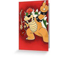 Metal Bowser Greeting Card