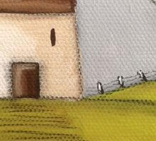 Silver Birch Cottage Sticker