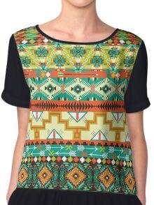 Aztec geometric seamless pattern Chiffon Top