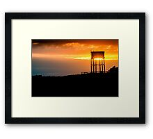 Water tower in Pennard, Wales Framed Print