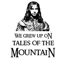 """We Grew Up On Tales Of The Mountain."" Photographic Print"