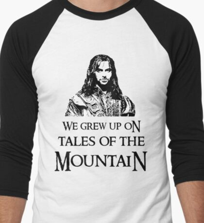 """We Grew Up On Tales Of The Mountain."" Men's Baseball ¾ T-Shirt"