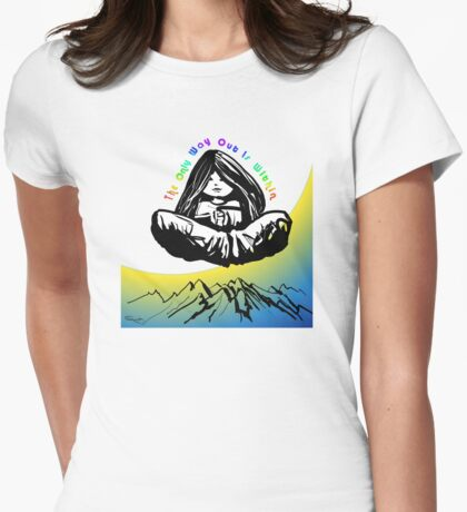 Levitation Womens Fitted T-Shirt