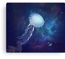 GOODBYE SEA (jellyfish in space) Canvas Print