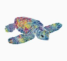 Sea Turtle Watercolor Art One Piece - Short Sleeve