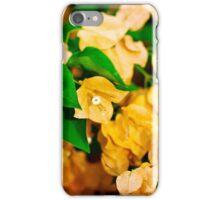 Bougainvillea flowers in a garden. Bright orange flowers.  iPhone Case/Skin