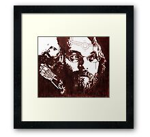 shannon larratt blood painting Framed Print