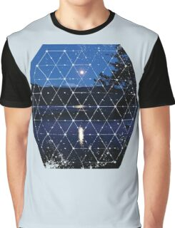 Nature and Geometry - The Moon Graphic T-Shirt