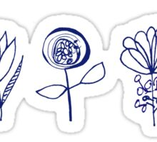 dutch flowers Sticker