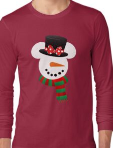 Minnie Snowman Long Sleeve T-Shirt