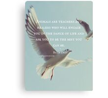 Animals are Teachers - Billie Dean Canvas Print
