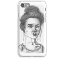 Displeased Woman iPhone Case/Skin