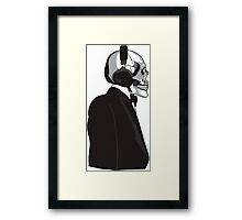 Skull and Suit Framed Print