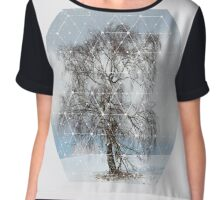 Nature and Geometry - The Sad Tree Chiffon Top