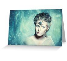Winter beauty fantasy woman portrait Greeting Card