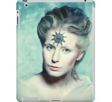 Winter beauty fantasy woman portrait iPad Case/Skin