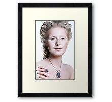 Beautiful glamour model girl with Christmas fashion makeup  Framed Print