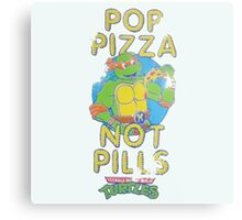 Pop Pizza Not Pills Metal Print
