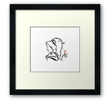 Beauty and the beast  logo Framed Print