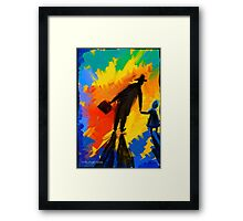 To the bright Future Framed Print