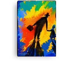 To the bright Future Canvas Print