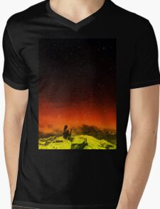Burning Hill Mens V-Neck T-Shirt