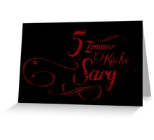 5 Zimmer... Greeting Card