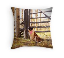 I support Breast Cancer Awareness Throw Pillow