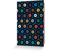 VINYL blue Greeting Card