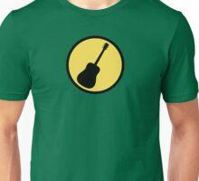 Acoustic guitar black yellow Unisex T-Shirt
