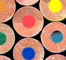 Close up macro shot of colouring pencils Sticker