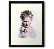 Beautiful girl with glamour Christmas makeup Framed Print