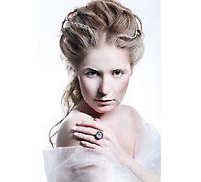 Beautiful girl with glamour Christmas makeup Photographic Print