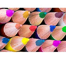 Close up macro shot of colouring pencils Photographic Print