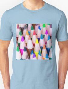 Close up macro shot of colouring pencils Unisex T-Shirt
