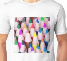 Close up macro shot of colouring pencils Unisex T-Shirt