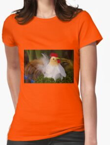 Easter hen Womens Fitted T-Shirt