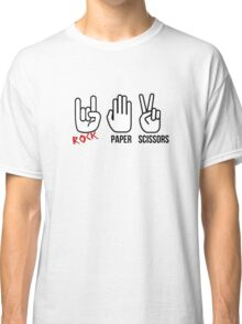 Rock, Paper, Scissors Classic T-Shirt
