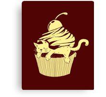 CatCake ou CuteCat - Burgundy Canvas Print