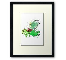 Holly Leaf (With berries) [Coloured] Framed Print