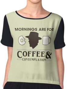 Mornings are for Coffee & Contemplation Chiffon Top