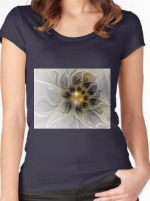 Abstract Beauty Fractal Art Women's Fitted Scoop T-Shirt