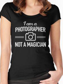 I am a photographer not a magician Women's Fitted Scoop T-Shirt