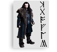 Thorin in Runes Canvas Print