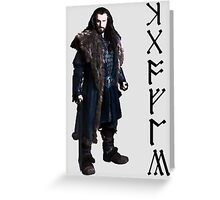 Thorin in Runes Greeting Card