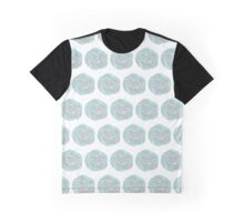 Drawing from the gray-blue abstract flowers Graphic T-Shirt