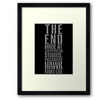 THE END from Dr. Strangelove or: How I Learned to Stop Worrying and Love the Bomb Framed Print
